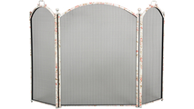 Floral 3-Fold Arched Screen