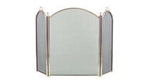 3-Fold Arched Polished Brass Screen
