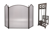 3-Fold Arched Screen with Matching Tool Set
