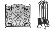 Arched Panel Screen with Matching Tool Set