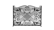 Wrought Iron Panel Screen