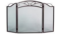 3-Fold Arched Bronze Screen