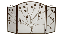 3-fold Arched Bronze Screen with Leaf Design