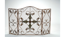 3-Fold Arched Antique Copper & Patina Screen