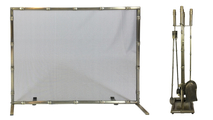 Bamboo Panel Screen With Matching Tool Set