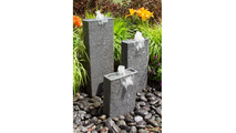 Rectangle Chiseled Towers Fountain Kit