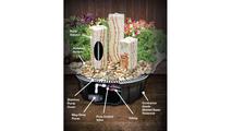 Triple Salt River Sandstone Fountain Kit Diagram