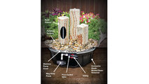 Red Onyx Fountain - 3 Sides Smooth Diagram