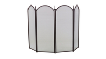 4-Fold Black Arched Screen