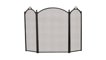 3-Fold Black Arched Screen