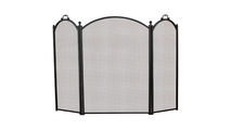 3-Fold Black Arched Screen 40 Inch Height
