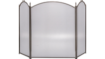3-Fold Arched Pewter Standing Screen
