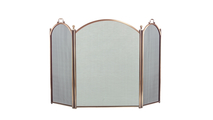 3-Fold Arched Antique Brass Screen