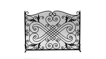 Black Arched Wrought Iron Panel Screen