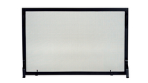 """Black Wrought Iron Panel Screen 44"""" Wide"""