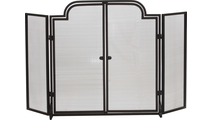 3-Fold Arched Wrought Iron Screen with Operable Doors