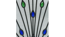 Green and Blue Glass Peacock design