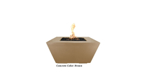 Ribeira Glass Fiber Reinforced Concrete Fire Pit shown in Brown