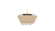 Ribeira Glass Fiber Reinforced Concrete Fire Pit shown in Vanilla