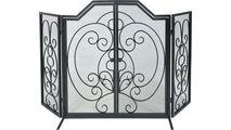 Curly Design Arched Panel Screen