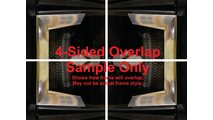 4 sided overlap - OVERLAPS ON ALL $ SIDES OF FIREBOX OPENING!
