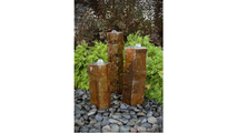 Basalt Column Fountain Kit - Polished Tops