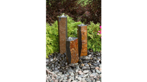 Basalt Column Fountain Kit - Polished Top and 3 Sides