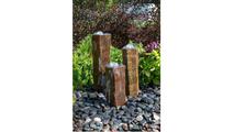 Basalt Column Fountain Kit - Polished Bowl Tops