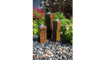 Basalt Column Fountain Kit - Polished Tops & 1 Side