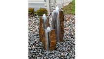 Basalt Column Fountain Kit - Cut-Face Polished Top & Front