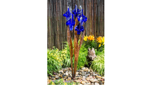 Blue Iris Flower - Fountain Only