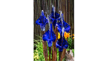 Blue Iris Flower - Fountain Only