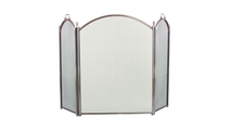 3-Fold Pewter Arched Screen
