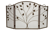 3-fold Arched Bronze Leaf Screen