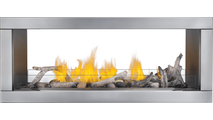 Galaxy See Thru Fireplace With Driftwood Logs