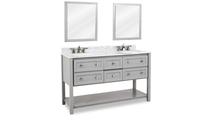 Adle Grey Vanity Mirror Side View