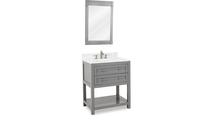 Astoria Modern Grey Vanity Mirror Side View