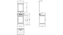 Astoria Modern Espresso Vanity Mirror Specifications