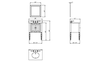 Jensen White Vanity Mirror Specifications