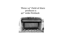 """Three of this fireback combined produces a 42"""" wide fireback"""