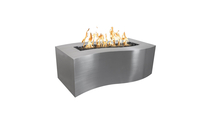 72 Inch Billow Stainless Steel Gas Fire Pit