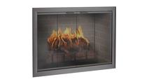 Brookfield Zero Clearance Fireplace Door in Classic Bronze with Simplicity handles