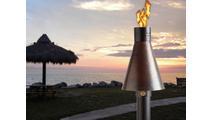 The Hammered Copper match lit TK torch creates an island getaway feel!