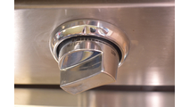 Closeup of knobs on the 36 Inch Profire Built-In Grill Head