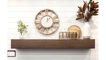 wood grain steel mantel shelf