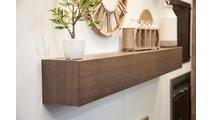 Wood Grain Steel Mantel Shelf 72 Inch