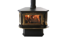 Buck Stove Model 18 Non-Catalytic Wood Stove with Gold Highlights