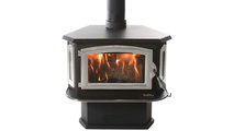 Buck Stove Model 18 Non-Catalytic Wood Stove with Pewter Highlights
