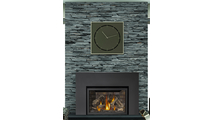 Infrared X4 Gas Fireplace Insert In Use
