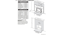 Minimum Clearances for Timberwolf Economizer Wood Fireplace Insert